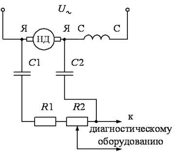Схема подключения однофазного двигателя.