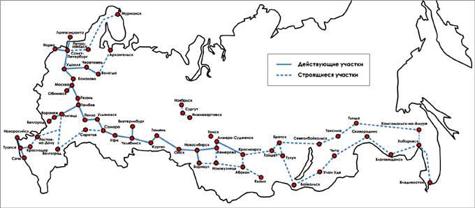 Географическая карта проектов