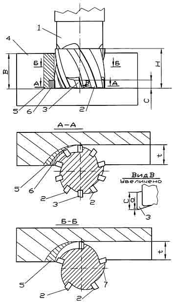 Конструктивная схема концевой