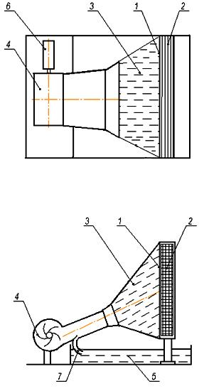 Схема охлаждения конденсатора
